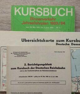 ORIGINAL KURSBUCH JAHRESFAHRPLAN 1983/84 DEUTSCHE REICHSBAHN incl. Beilagen