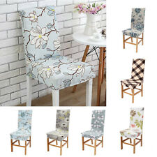 Removable Chair Cover Slipcovers Stretch Fit Dining Room Slip Seat Covers Home