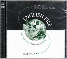 Oxford ENGLISH FILE Intermediate Class Audio CDs (2000 Edition Out of Print) NEW