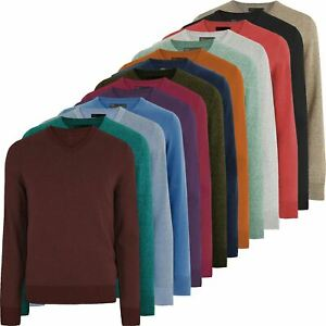 Mens M&S V Neck Jumper Long Sleeve Knitted Marks & Spencer Sweater Pullover Top