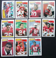 1987 Topps St. Louis Cardinals Team Set of 11 Football Cards