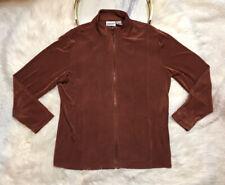Chicos Travelers Womens Jacket Size 2 (Medium) Rust Zip Front Long Sleeves