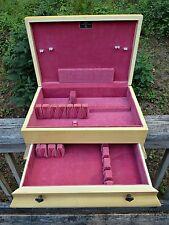 Vtg 50s Painted White Wooden 1 Drawer Silverware Flatware Chest Case Box Storage