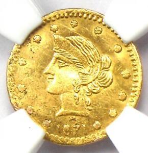 1871 Liberty 25C California Gold Quarter BG-862 R6. NGC UNC (BU MS) - Rarity-6!