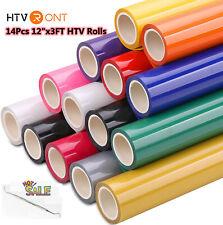 14 Pack Htv Bundle 12 X 36 Iron On Heat Transfer Vinyl For Cricut Silhouette