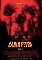 CABIN FEVER MOVIE POSTER 27x40 SKULL ART ! 2003 HORROR FILM + PREMONITION bonus!