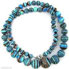 New 6-14mm Multicolor Red Blue Turkey Turquoise Gemstone Tower Beads Necklace