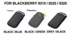 Original Blackberry 9320 Gris/Verde/Azul Microfibra Bolsa De Bolsillo