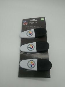 Pittsburgh Steelers NFL Snack Bag Chip clip With Magnet 3 Pack. Free Shipping