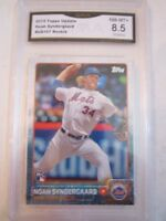 2015 NOAH SYNDERGAARD  #157 BASEBALL CARD - GMA GRADED 8.5 NM MT+ - BN-20