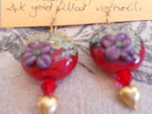 Lovely Handmade Lampwork Bead Earrings