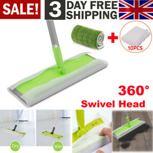 Tile Laminate Wood Static Cleaning Floor Cleaner Mop Sweeper Wet or Dry Wipes