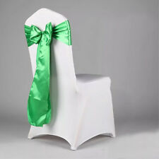 "1/10/25/50/100/ Satin Chair Sash Silk Bow 6x108"" Event Wedding Party Venue Decor"