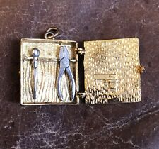 Vintage Opening DIY Tool Case Do It Yourself 9ct Gold Opening Charm