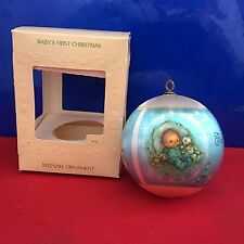 Hallmark Unbreakable Satin Ball Ornament Baby's First Christmas 1981