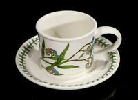 Beautiful Portmeirion Botanic Garden Forget Me Not Flat Drum Cup And Saucer
