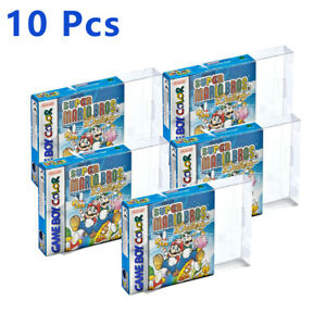 10 Pcs GBA Protector Clear Case Sleeve Box Cartridge For Nintendo Game Boy
