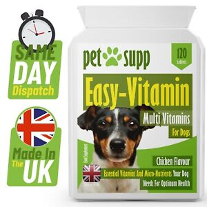 Multi-Vitamins for Dogs⭐  Dog Health Care ⭐ Vitamins A, C, D & E ⭐ 120 Tablets