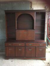 Retro Hardwood Dress Display Cabinet Sideboard Cupboard Drawers Doors Drinks
