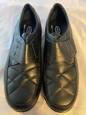 NEW DR. SCHOLL'S Double Air Pillo Black Leather quilted Loafer, Size 10 W