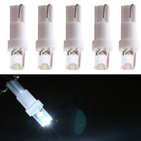 10Pcs 120° 12V T5 LED Dash Board Bulbs Light Super Bright Dashboard Lamp White
