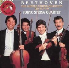 Beethoven: The Middle String Quartets Opp. 59, 74, 95 3 CD SET