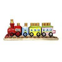 Chanukah Hanukkah Ceramic Train Menorah Judaic Childrens Happy Hanukah