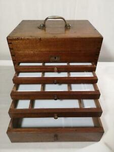 Antique Vintage Dentists Medical Cabinet Collectors Drawers