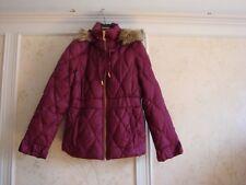 NWT Juicy Couture Womens Ruffle Puffer Down Coat Jacket  L  Plum