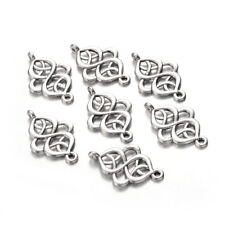 20pcs Tibetan Alloy Filigree Charm Connectors 1/1 Loop Antique Silver Links 28mm
