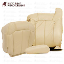2000 2001 2002 Chevy Tahoe Suburban Driver Complete Package Vinyl Seat Cover Tan