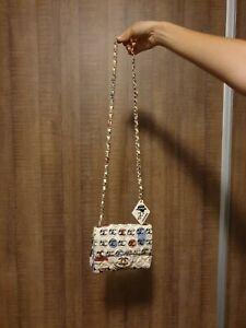 Chanel graffitti multicoloured mini flap bag vintage authentic