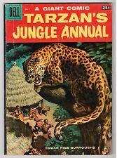Dell Giant TARZAN'S JUNGLE ANNUAL #7 - VG+ 1958 Vintage Comic