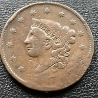 1837 Large Cent Coronet Head One Cent 1c Circulated  #2248