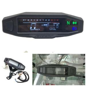 RPM KM/H Motorcycle ATV Modified LCD Speedometer Digital Odometer Waterproof
