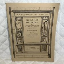 1940 BUILDING MATERIALS & STRUCTURE BOOKLET/ PLUMBING MANUAL BMS66