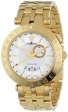 Versace Men's 29G70D001 S070 V-RACE Gold IP Stainless Steel Alarm GMT Date Watch