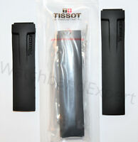 Original Tissot T-Race Men's T048417A, T048427A Black Rubber Band Strap w/ Pins