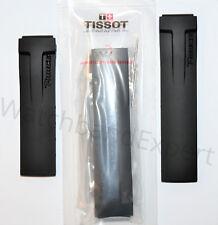 Original Tissot T-Race Men's T048417A / T048427A Black Rubber Watch Band Strap