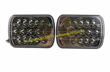 """7X6"""" LED HEADLIGHTS CRYSTAL CLEAR SEALED BEAM SQUARE HEADLAMPS FOR TOYOTA A PAIR"""