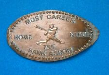 Hank Aaron elongated penny Usa cent Mlb Baseball coin Most Career Home Runs