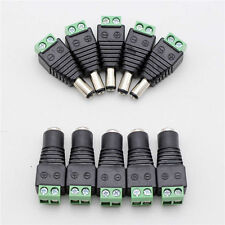 5x Male+ 5x Female 2.1x5.5mm DC Power Plug Jack Adapter Wire Connector for CCTV