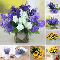 Artificial Fake lavender Hyacinth Silk Flower Wedding Bridal Bouquet Home Decor