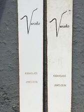 Vintage VENEKO Special Skis 1963 with Poles 7 Foot Long Thong Miller Turntable