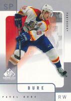 2000-01 SP Game Used Hockey #27 Pavel Bure Florida Panthers