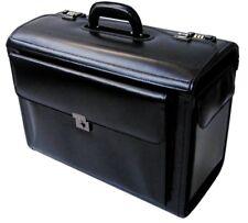 Grand en Cuir Pilote case ordinateur portable professionnel Voyage Vol Valise Sac à main luggag