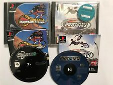 2 PS1 PLAYSTATION 1 MAT HOFFMAN'S PRO BMX + NO FEAR DOWNHILL MOUNTAIN BIKE PAL