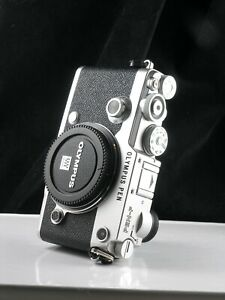 MINT Olympus Pen-F Micro Four Thirds camera (body only), 20mp, silver