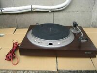 Junk Denon DP-1200 DP1200 Record Audio Player Turntable Vintage parts No power