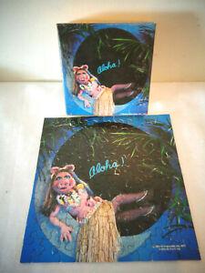 1977 HALLMARK SPRINGBOK MINI JIGSAW PUZZLE PZL7172 MISS PIGGY ALOHA COMPLETE